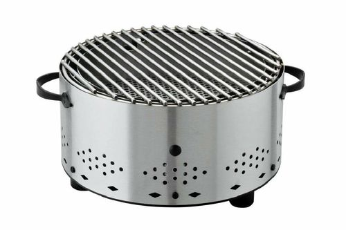 "Holzkohle Tischgrill Charbonnade ""Circle"" Inox - rund"
